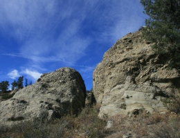 Geology on the North Fork Trail, Chumash Wilderness, Los Padres National Forest, CA