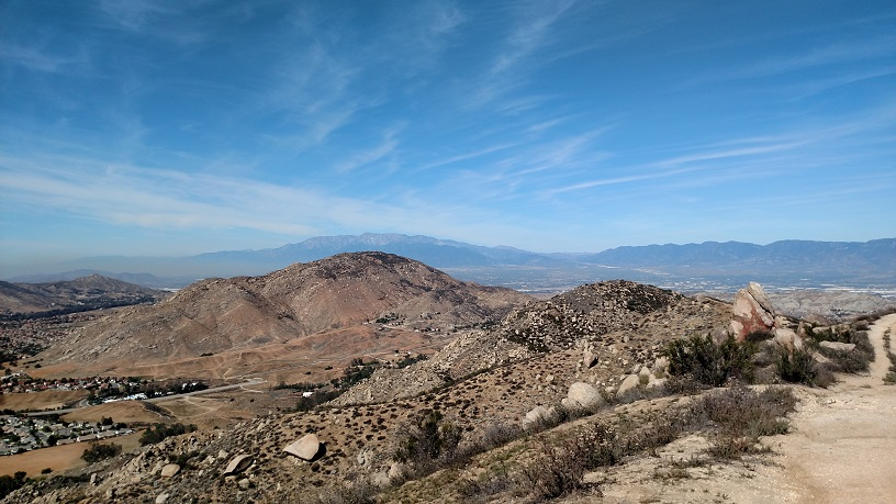 The San Gabriel Mountains as seen from Olive Hill, Moreno Valley, CA