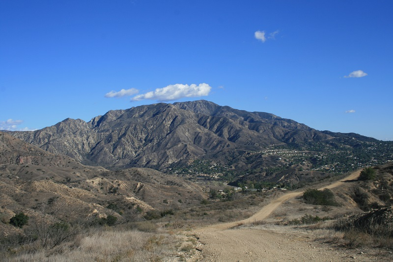 View of Mt. Lukens from the hills above Lake View Terrace, CA