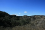 Angeles National Forest foothills above Lake View Terrace, CA