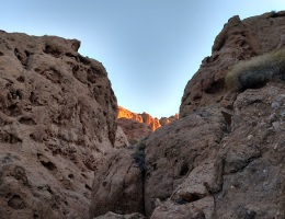 Geology in Owl Canyon, San Bernardino County, CA