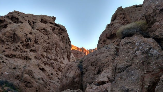 Geology in Owl Canyon, San Bernardino County, CA