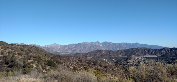 San Gabriel Mountains as seen from Mt. Tom, Glendale, CA