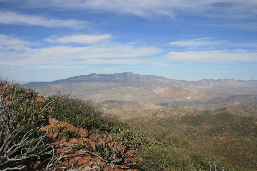 View of the Santa Rosa Mountains from Combs Peak, San Diego County, CA