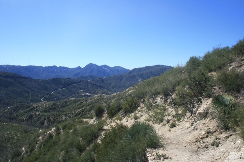 View from the Silver Moccasin Trail, Angeles National Forest, CA
