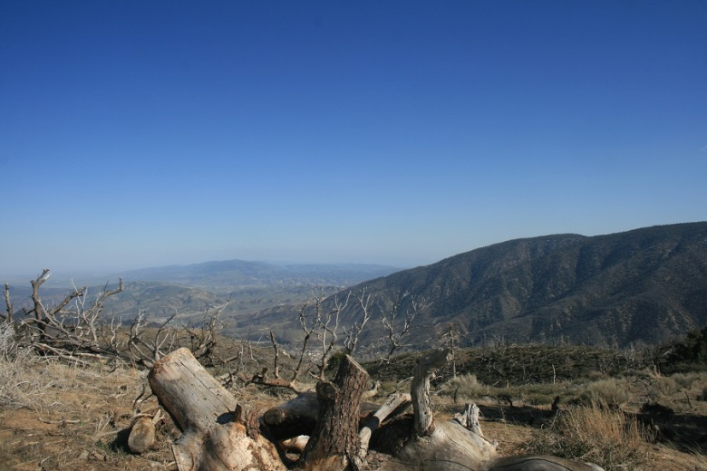 View of Cuddy Valley from Tecuya Mountain, Frazier Park, CA