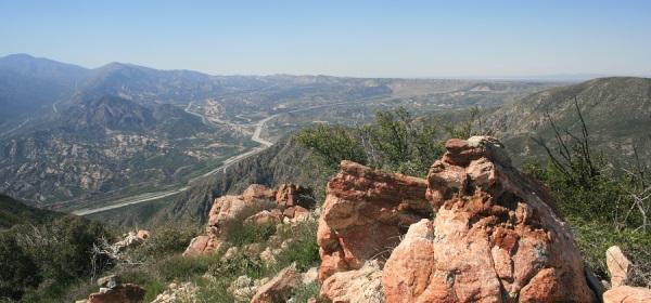 View of the Cajon Pass, San Bernardino, CA