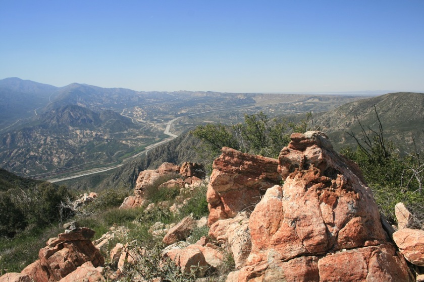 View of the Cajon Pass, San Bernardino, CA