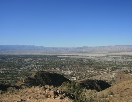 View of Palm Springs from Smoke Tree Mountain