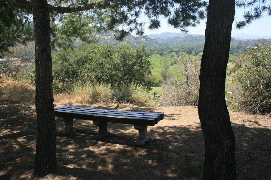 Bench at Hahamonga Watershed Park, Pasadena, CA