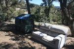 Sofa left for hikers on the Pacific Crest Trail, San Bernardino National Forest, CA