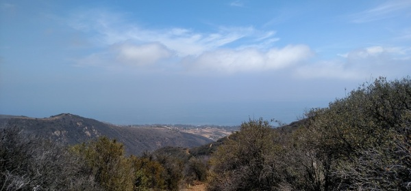Ocean view from Zuma Canyon, Malibu, CA