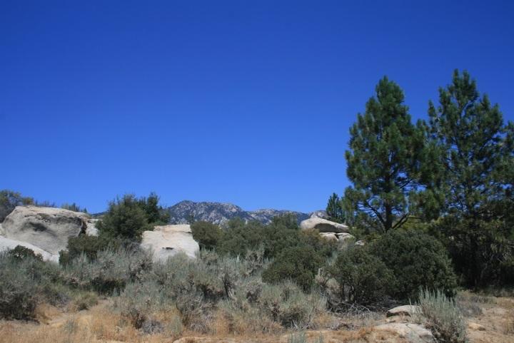 Tahquitz Peak seen from Hurkey Creek Park, Riverside County, CA