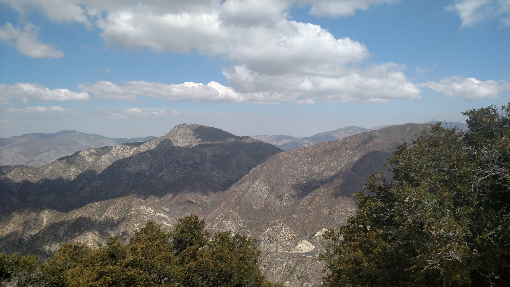 Strawberry Peak as seen from Mt. Deception, Angeles National Forest