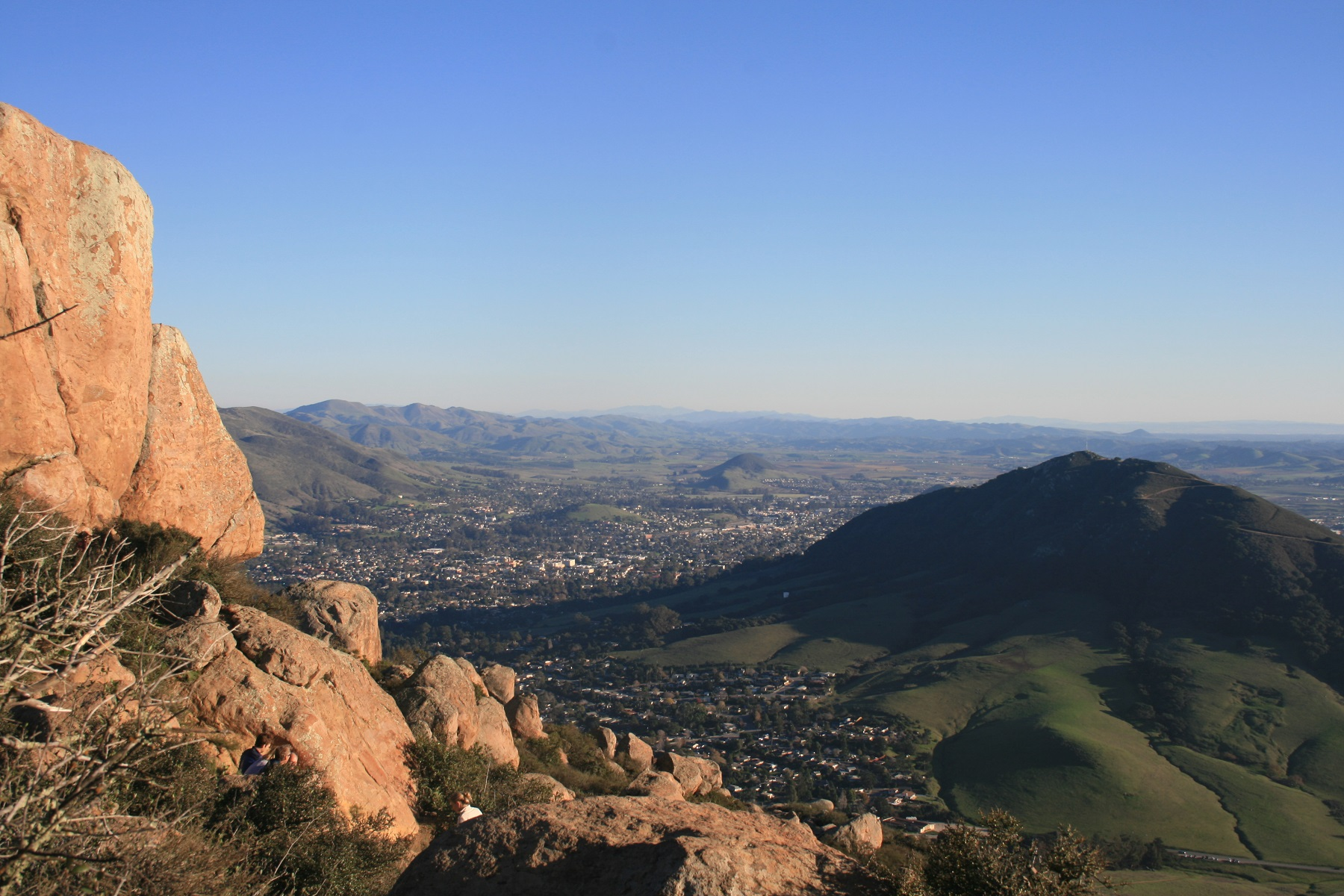 View from Bishop Peak, San Luis Obispo, CA