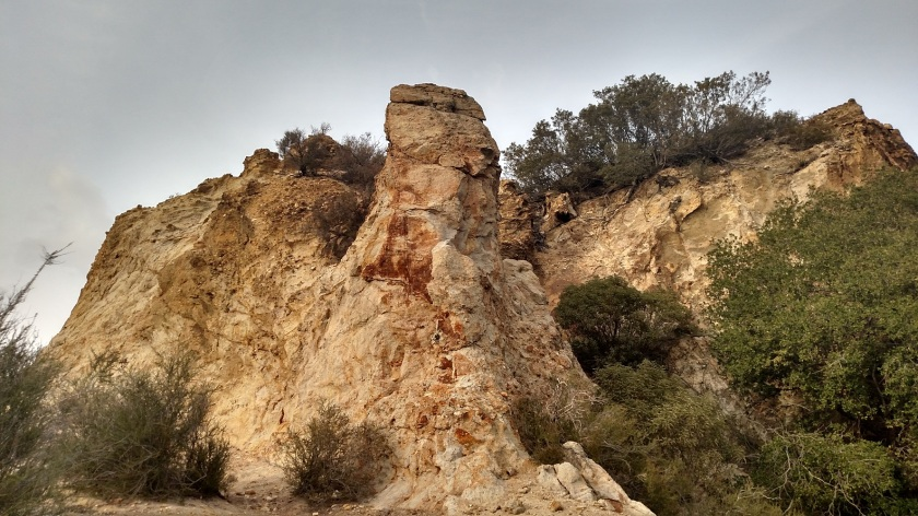 Geology in Elsmere Canyon Open Space, Santa Clarita, CA
