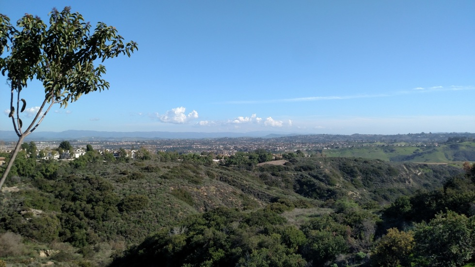 View of Orange County from the Soka Millennium Trail