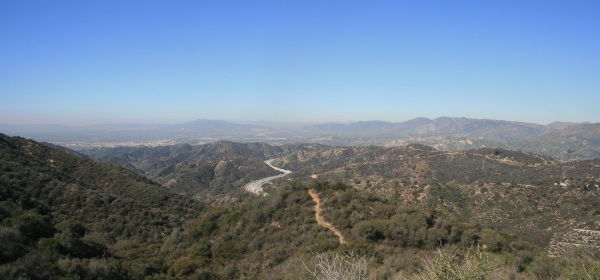 View of La Tuna Canyon in the Verudgo Mountains, Burbank, CA