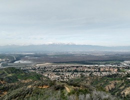 View from Fresno Canyon, Corona, CA