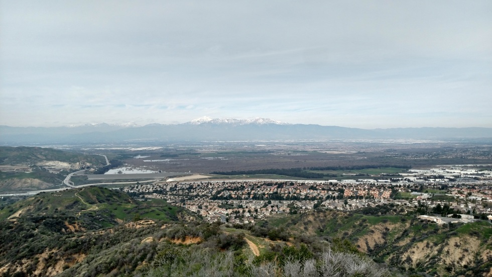 View from Fresno Canyon, Corona, CA