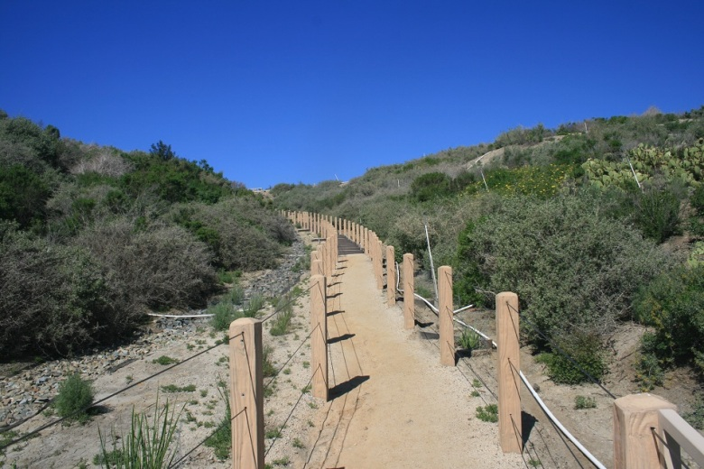 Ascending stairs on the Sea Summit Trail, San Clemente, CA