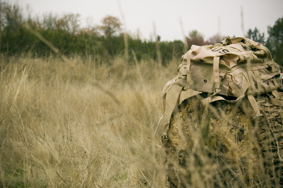 Historic military style backpack