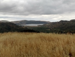 View of Irvine Lake from the SilMod Trail, Orange County, CA