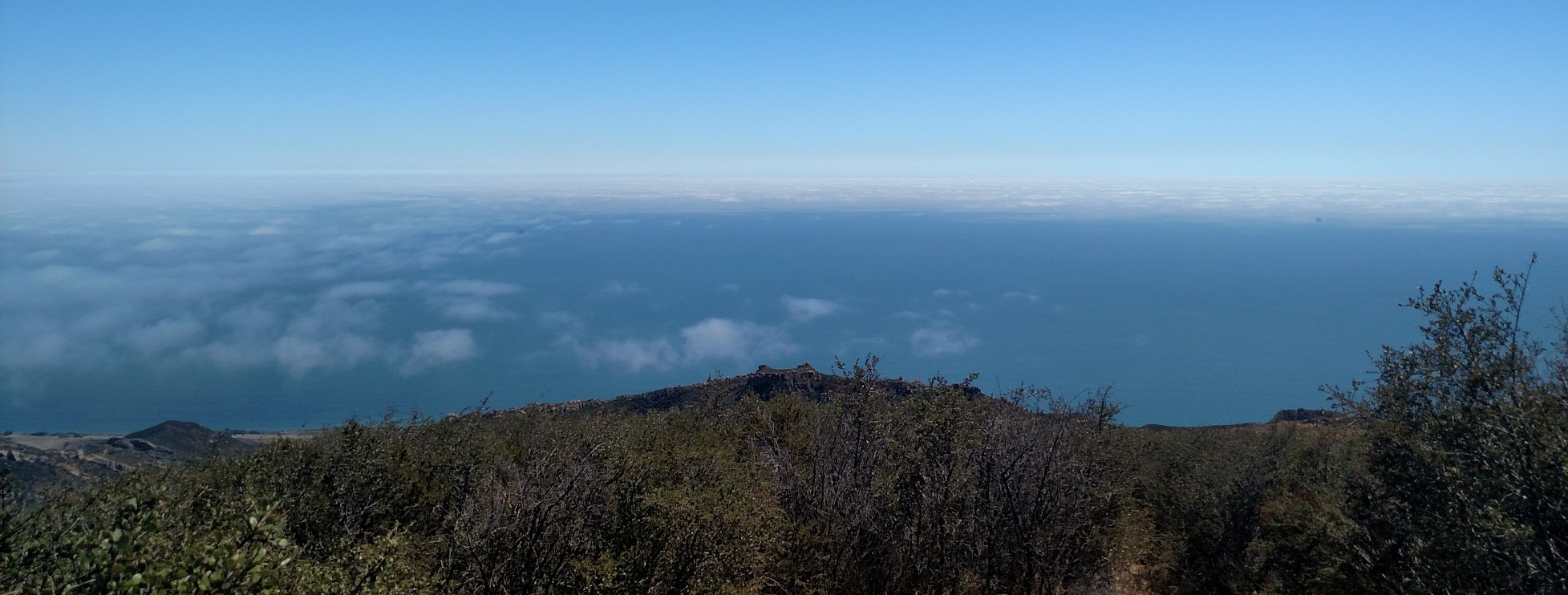 Ocean view from Gaviota Peak, Santa Barbara County, CA