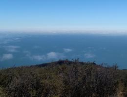 Ocean view from Gaviota Peak, Santa Barbara County, CA