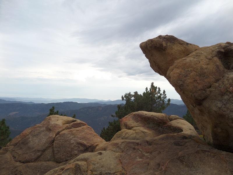 Reyes Peak summit boulders, Los Padres National Forest, CA