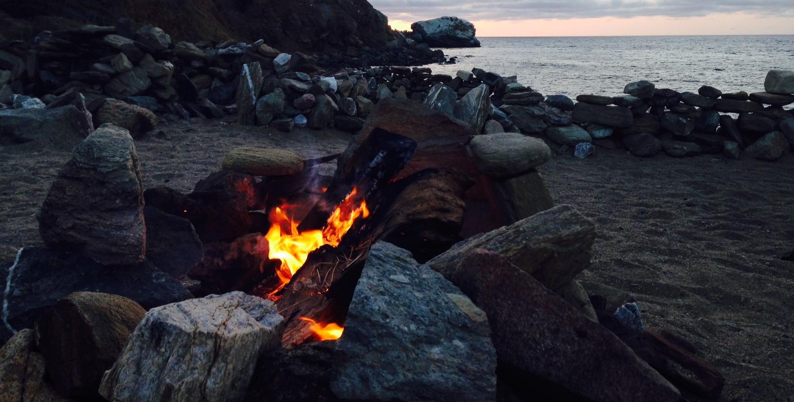 Campfire, Parsons Landing, Catalina Island, CA