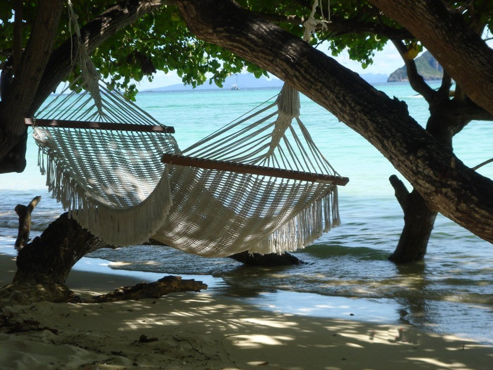 Hammock by the ocean