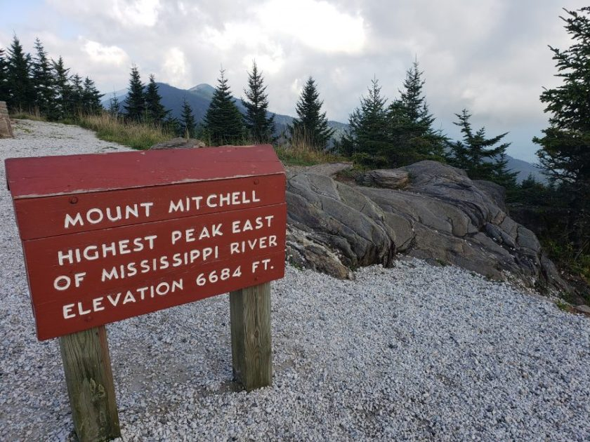Mt. Mitchell summit marker