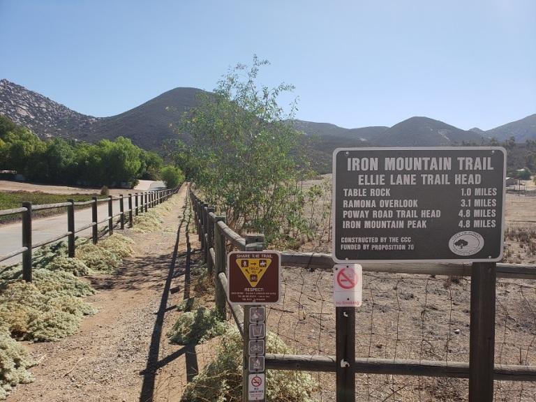 Ellie Lane trail head, Poway, CA