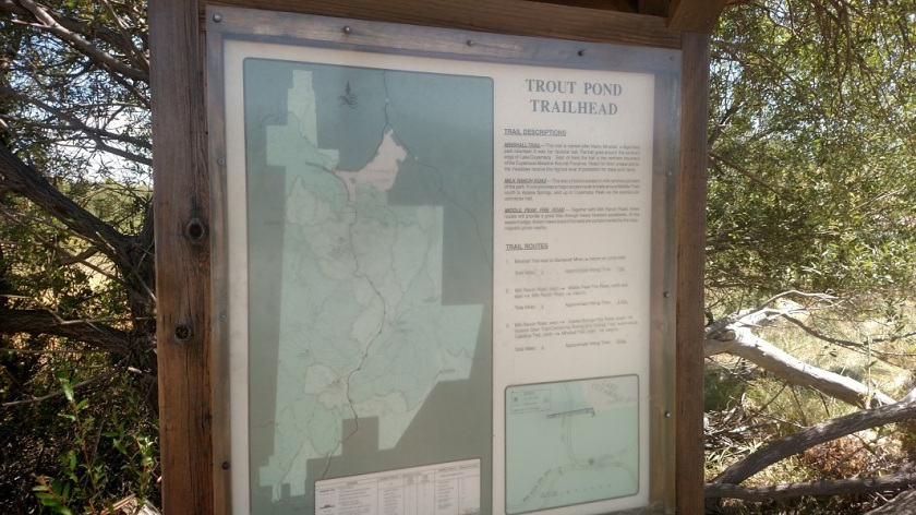 Trout Pond Trail Head, Cuyamaca Rancho State Park, CA
