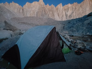 Big Agnes tent at Mt. Whitney Trail Camp