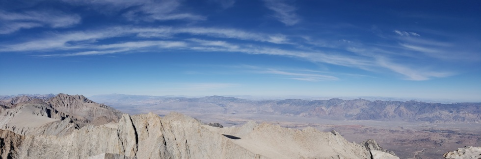 View from Mt. Whitney, CA